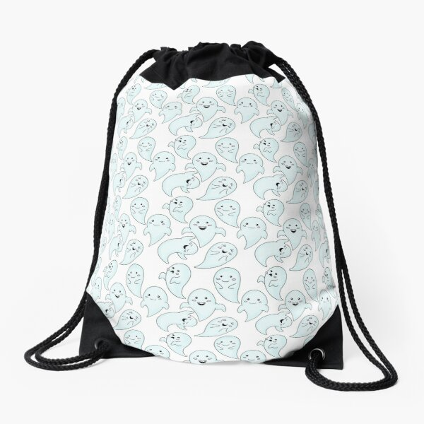 Cute Little Ghosts Drawstring Bag