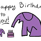 Birthday Party - Purple Elephants by Beth A.  Richardson