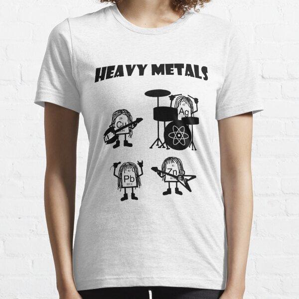 Métaux Lourdes T-Shirt Heavy Metals Musique rock Style Batcave Chimie N