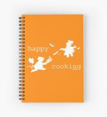 happy cooking team  · Tortitas apetitosas de los mejores chefs (blanco) Cuaderno de espiral