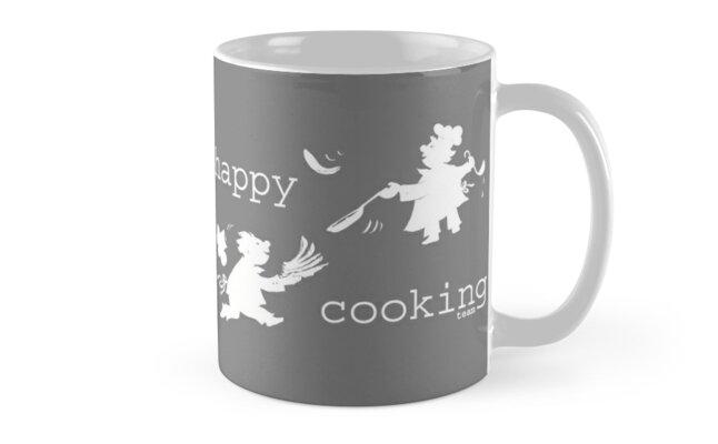 «happy cooking team  · Tortitas apetitosas de los mejores chefs (blanco)» de reflejArte