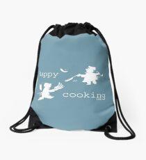 happy cooking team  · Tortitas apetitosas de los mejores chefs (blanco) Mochila de cuerdas
