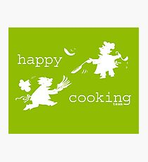happy cooking team  · Tortitas apetitosas de los mejores chefs (blanco) Lámina fotográfica