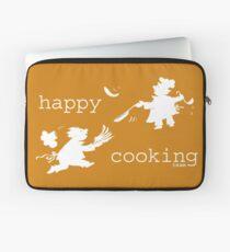 happy cooking team  · Tortitas apetitosas de los mejores chefs (blanco) Funda para portátil