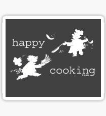 happy cooking team  · Tortitas apetitosas de los mejores chefs (blanco) Pegatina