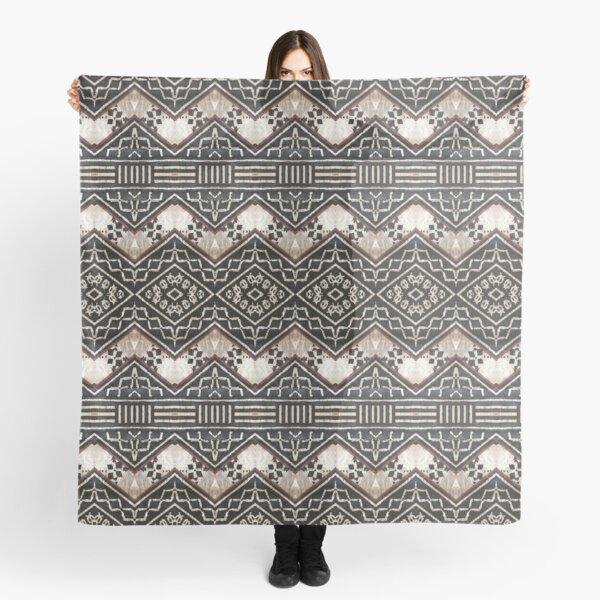Fijian Tapa Cloth 35 by Hypersphere Scarf