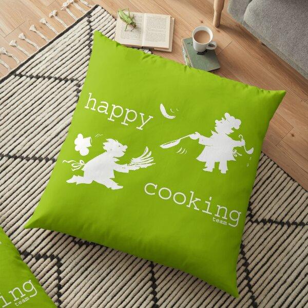 happy cooking team  · Delicious pancakes, happy cooks! (white) Floor Pillow