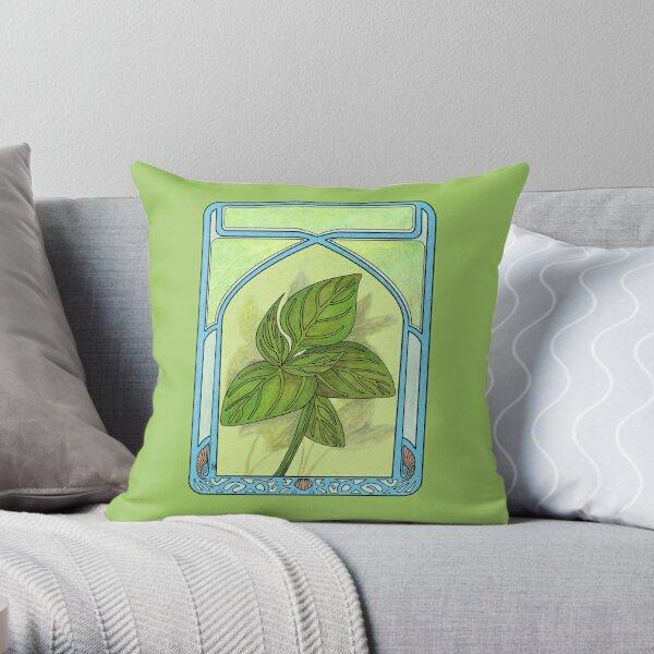 Art nouveau. Basil. Throw Pillow