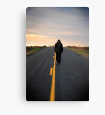 Traveling man Canvas Print