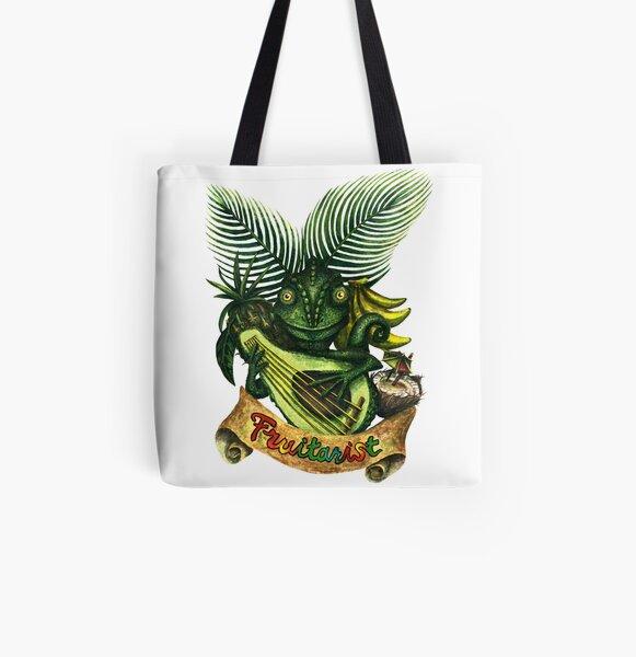 Left-handed Fruitarist All Over Print Tote Bag