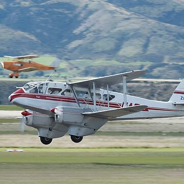 Dominie DH.89 Dragon Rapide with Fox Moth DH.83 at Wanaka by baji