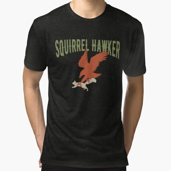 Falconer Squirrel Hawking T shirt, Falconers T-shirts Tri-blend T-Shirt