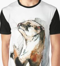 Otter Amblonyx cinerea watercolor Graphic T-Shirt