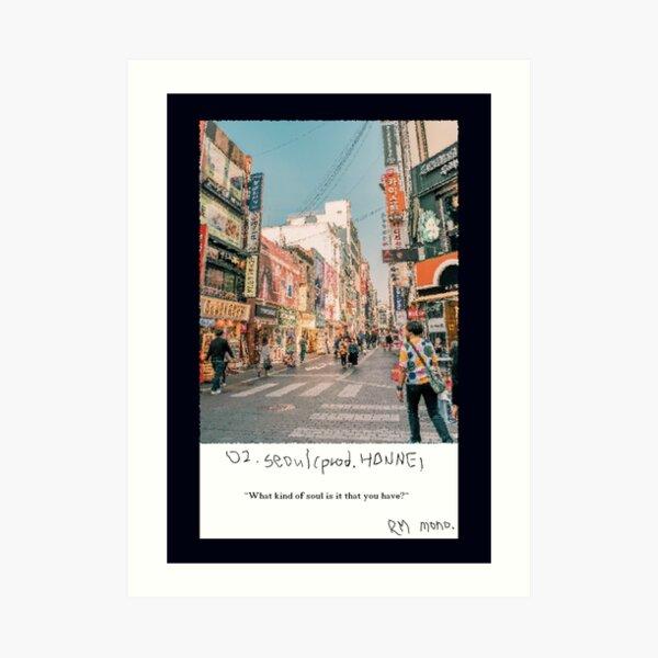 RM Mono. - Seoul Art Print