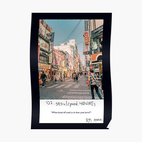 RM Mono. - Séoul Poster