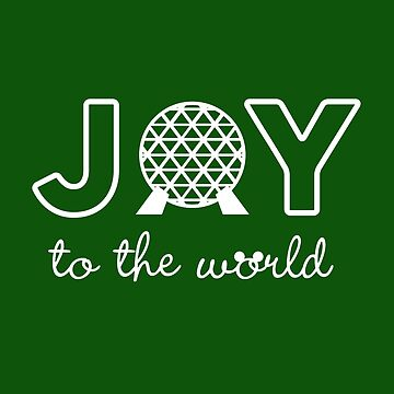 Joy to the World - Christmas Epcot inspired holiday design by KellyDesignCo