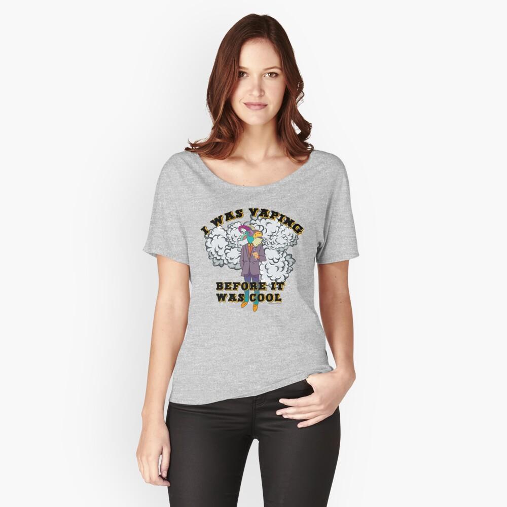 Ω VAPE Shirt | Vaping before it was Cool  Women's Relaxed Fit T-Shirt Front