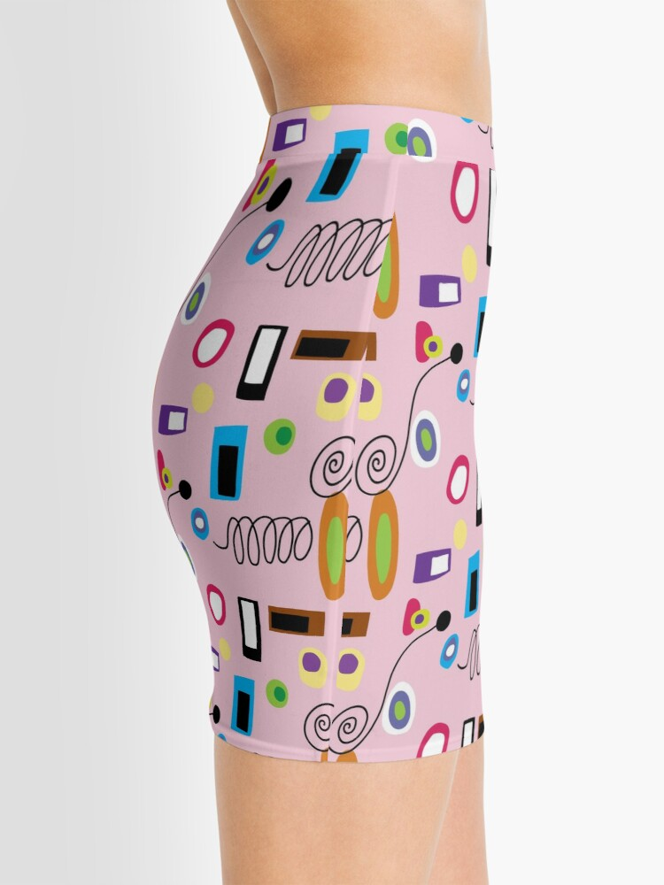 Alternate view of MOD ABSTRACT- Pink Mini Skirt