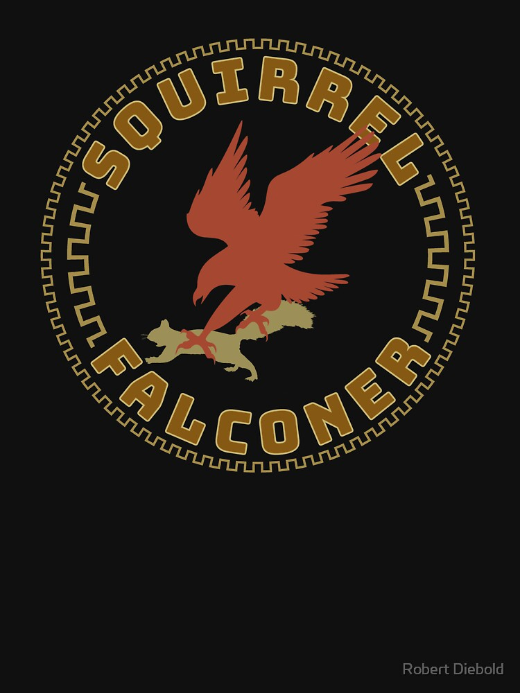 Falconer Squirrel Hawking T shirt, Falconers T-shirts and Gifts by manbird