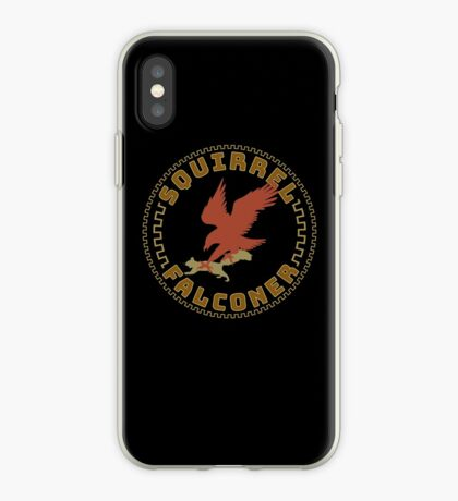 Falconer Squirrel Hawking T shirt, Falconers T-shirts and Gifts iPhone Case
