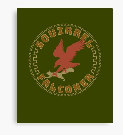 Falconer Squirrel Hawking T shirt, Falconers T-shirts and Gifts Canvas Print
