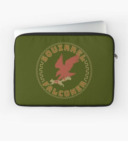 Falconer Squirrel Hawking T shirt, Falconers T-shirts and Gifts Laptop Sleeve