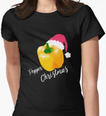 Pepper Christmas - Paprika Christmas Gift Design Women's Fitted T-Shirt