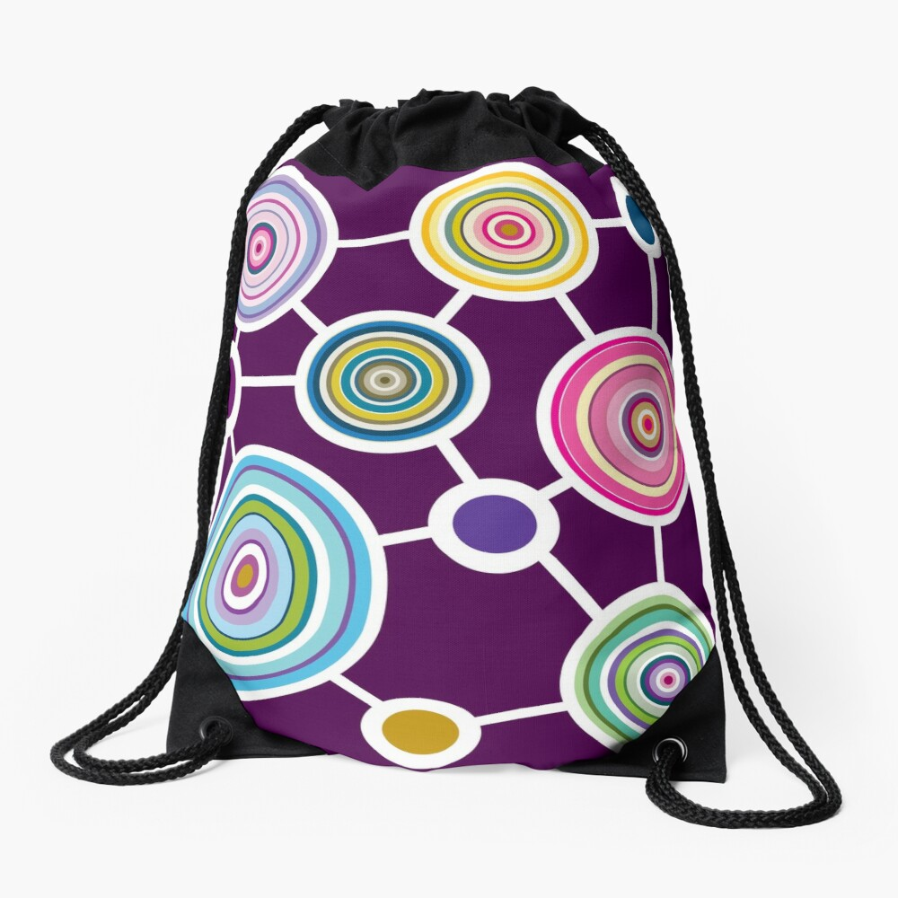 ROUND CONNECTION Drawstring Bag