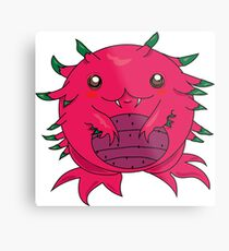 Dragon Fruit Dragon-Red Metal Print