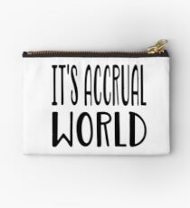 It's Accrual World T Shirt  Studio Pouch