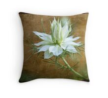 Love in a Mist, with Texture Throw Pillow