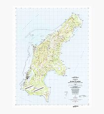 USGS TOPO Map Northern Mariana Islands MP Island Of Saipan 462337 1983 25000 Photographic Print