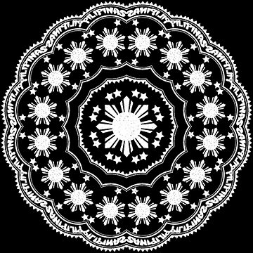 Pilipinas Grunge Mandala Pattern by kayve