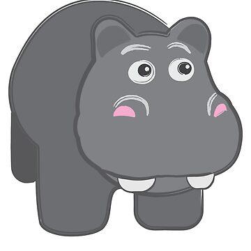 Happy Hippo by evisionarts