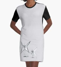 Fatherly Fairy Graphic T-Shirt Dress