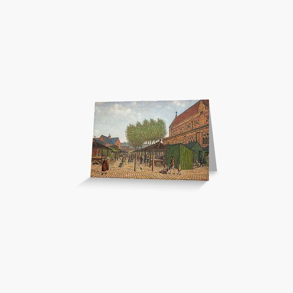 """""""Atherton Market"""" by Clarice Hall Pomfret Greeting Card"""