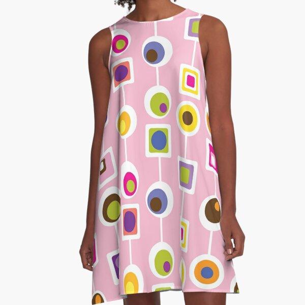 MOD LOVE- Pink A-Line Dress