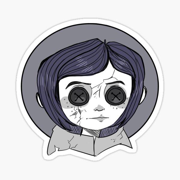 Coraline Button Eyes Sticker By Adornedhorns Redbubble
