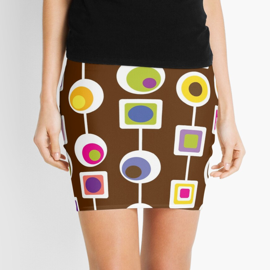 MOD LOVE- Chocolate Mini Skirt