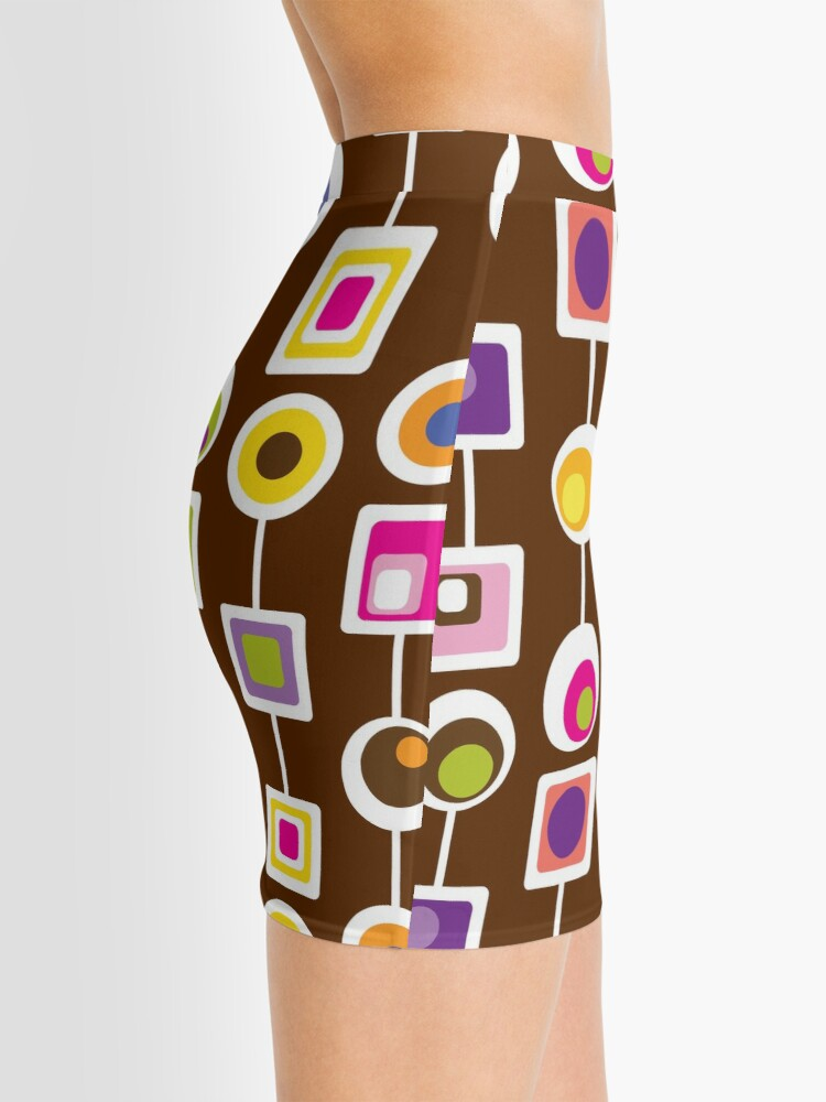 Alternate view of MOD LOVE- Chocolate Mini Skirt