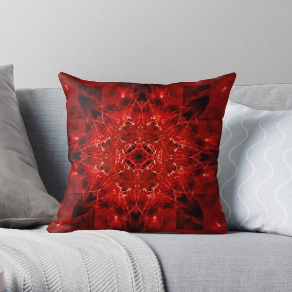 Dragonheart - Blood Red Throw Pillow