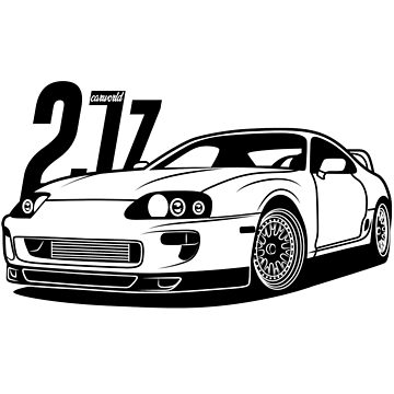Toyota Supra 2JZ Best Shirt Design by CarWorld