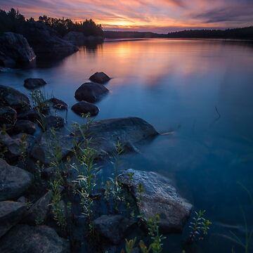 Sunset on Quirke Lake, Ontario by justinrusso