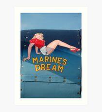 Marines Dream Art Print