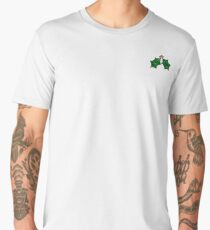 Christmas Holly in green Men's Premium T-Shirt