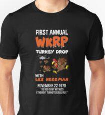 First Annual WKRP Turkey Drop T-shirt Slim Fit T-Shirt