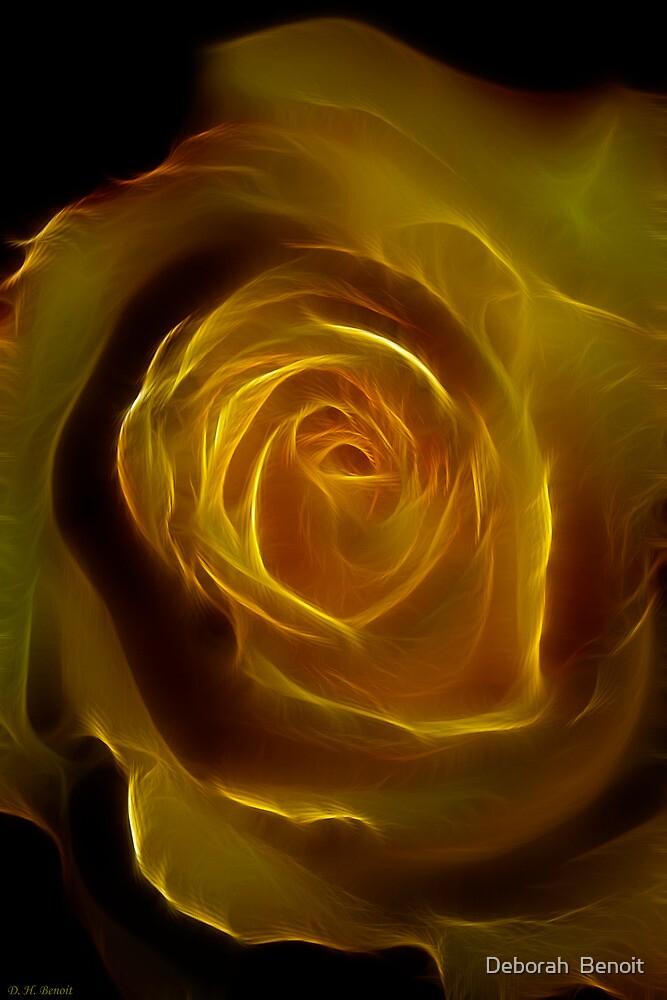 A Rose Of Yellow by Deborah  Benoit