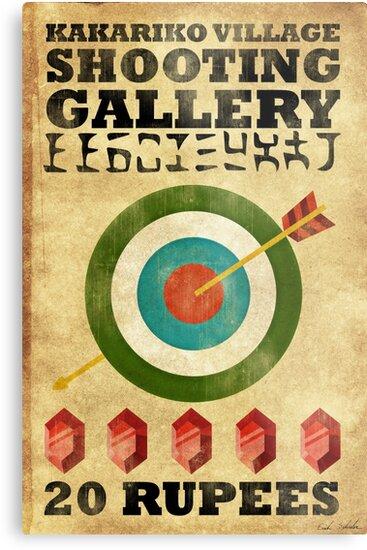 Legend of Zelda Shooting Gallery Poster by Erich Schuler