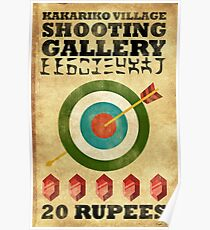 Legend of Zelda Shooting Gallery Poster Poster