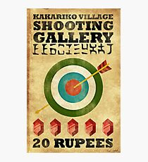 Legend of Zelda Shooting Gallery Poster Photographic Print